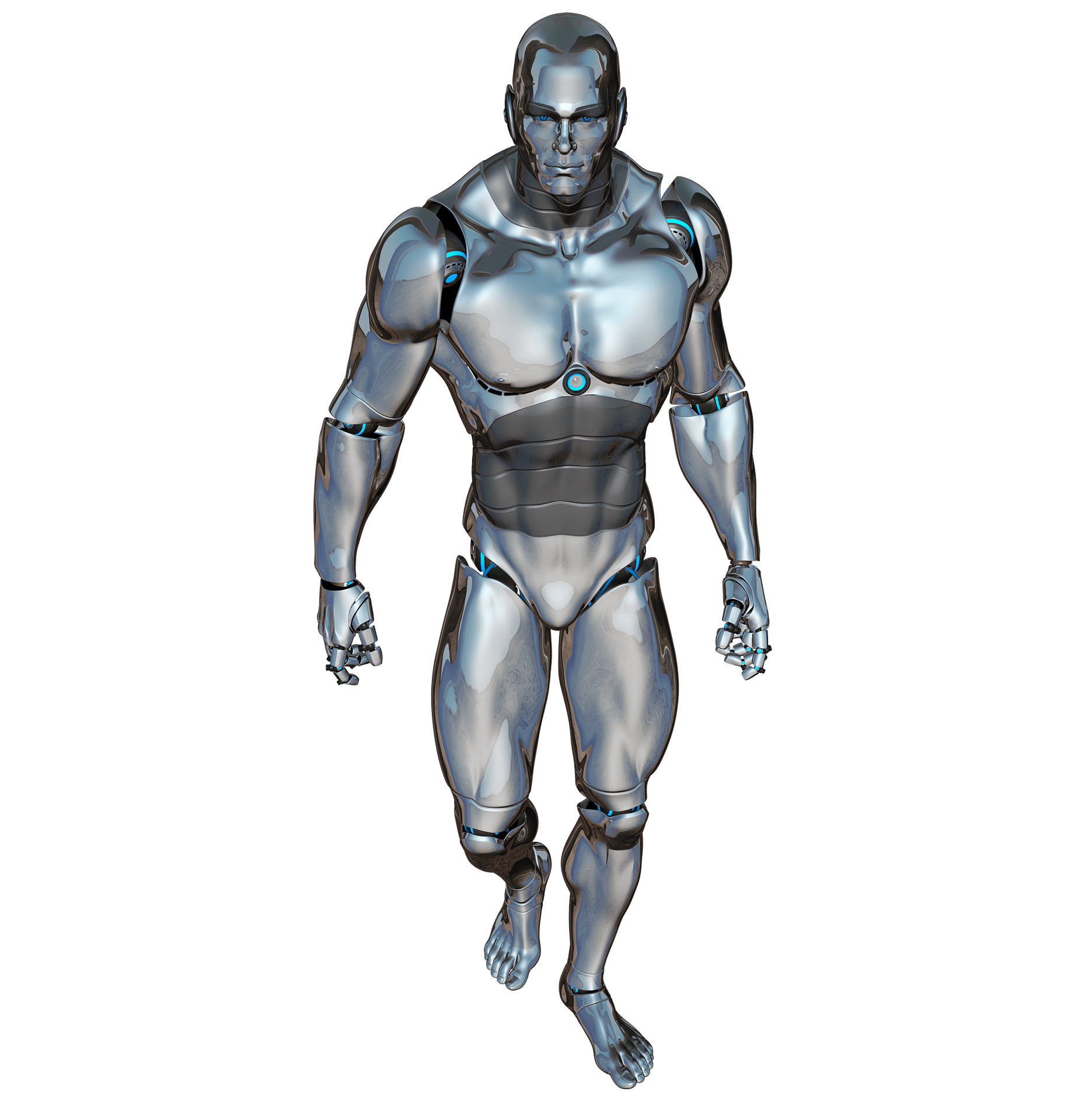 Male robot walking
