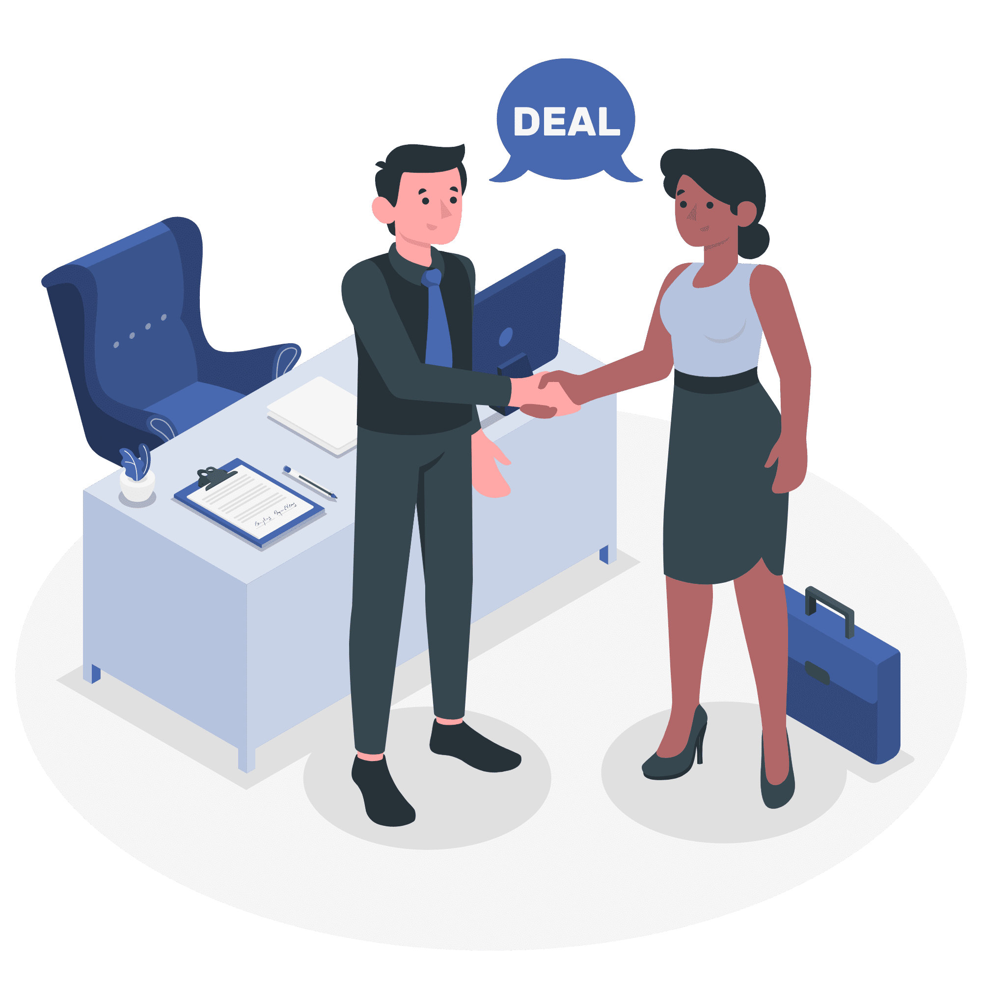 Business Deal Vector Illustration
