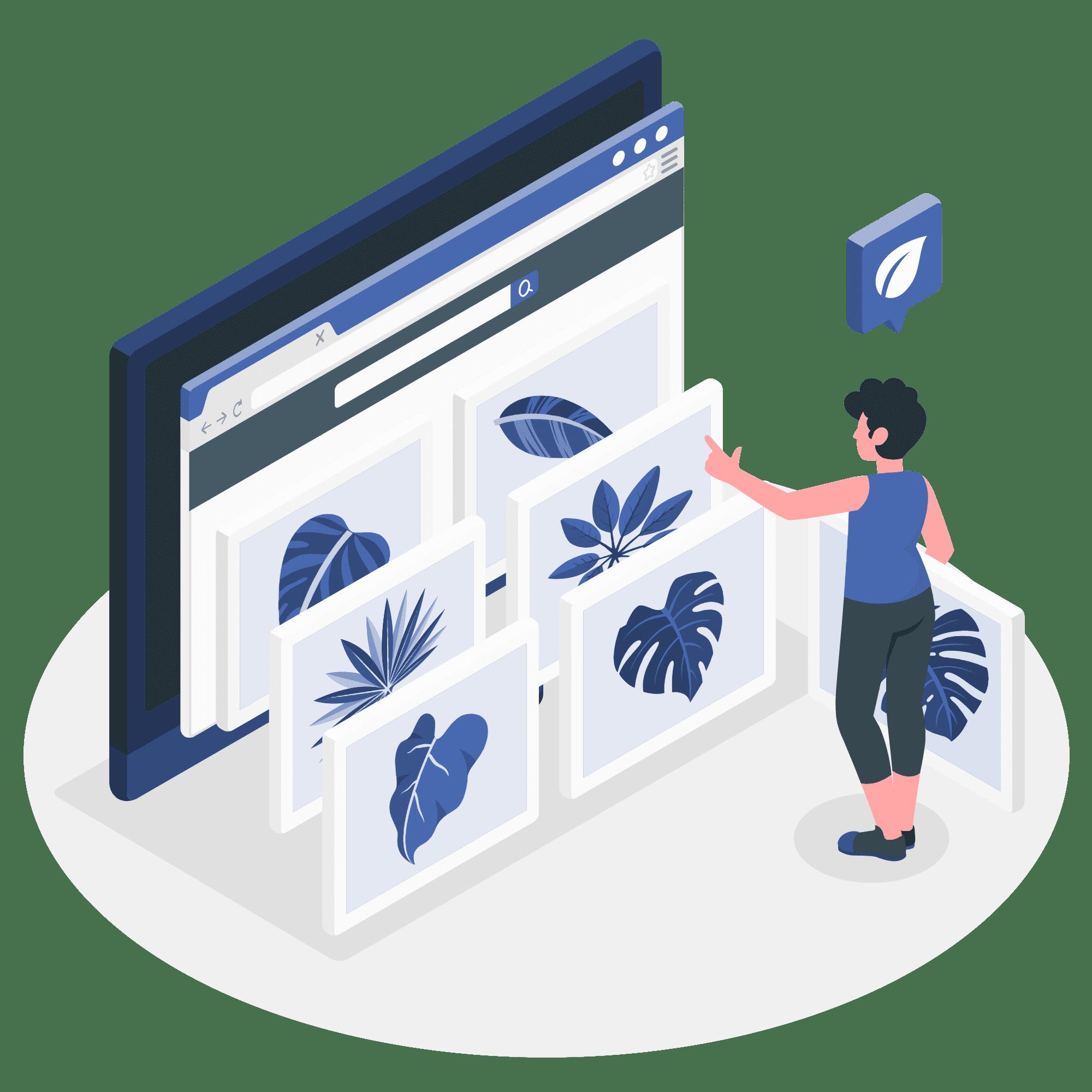 Ad trafficking vector illustration