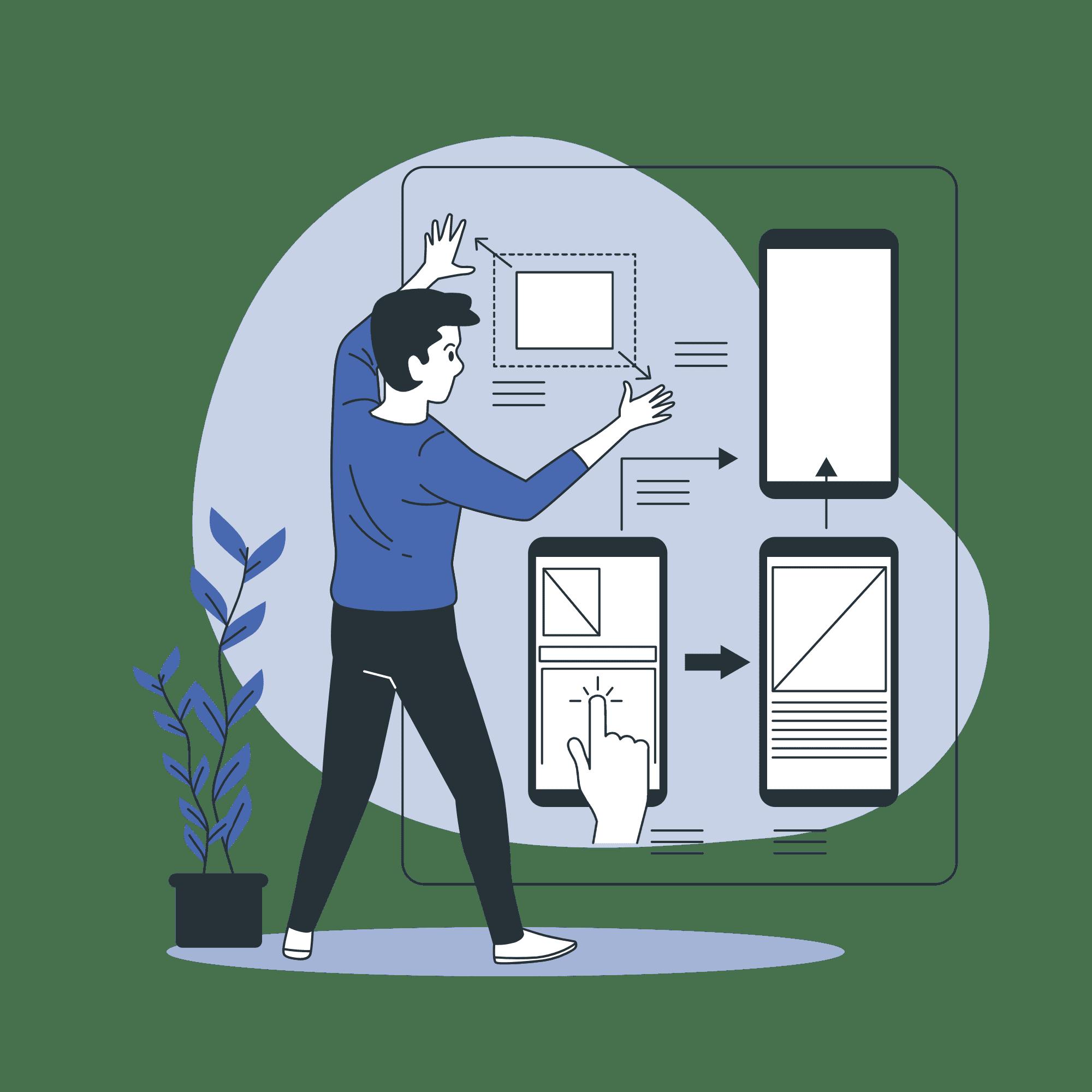 Mobile Design Vector illustration