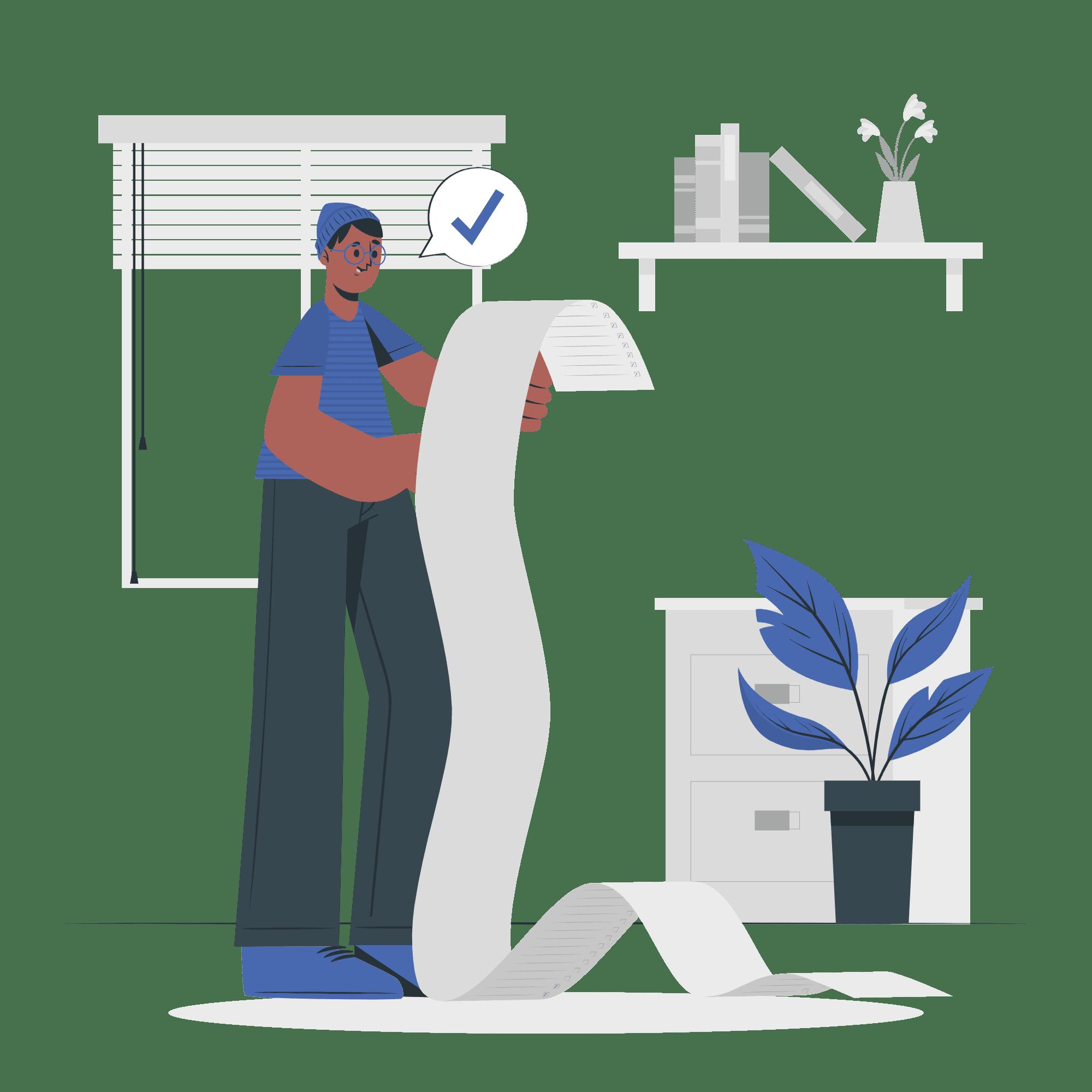 List Management Concept Illustration