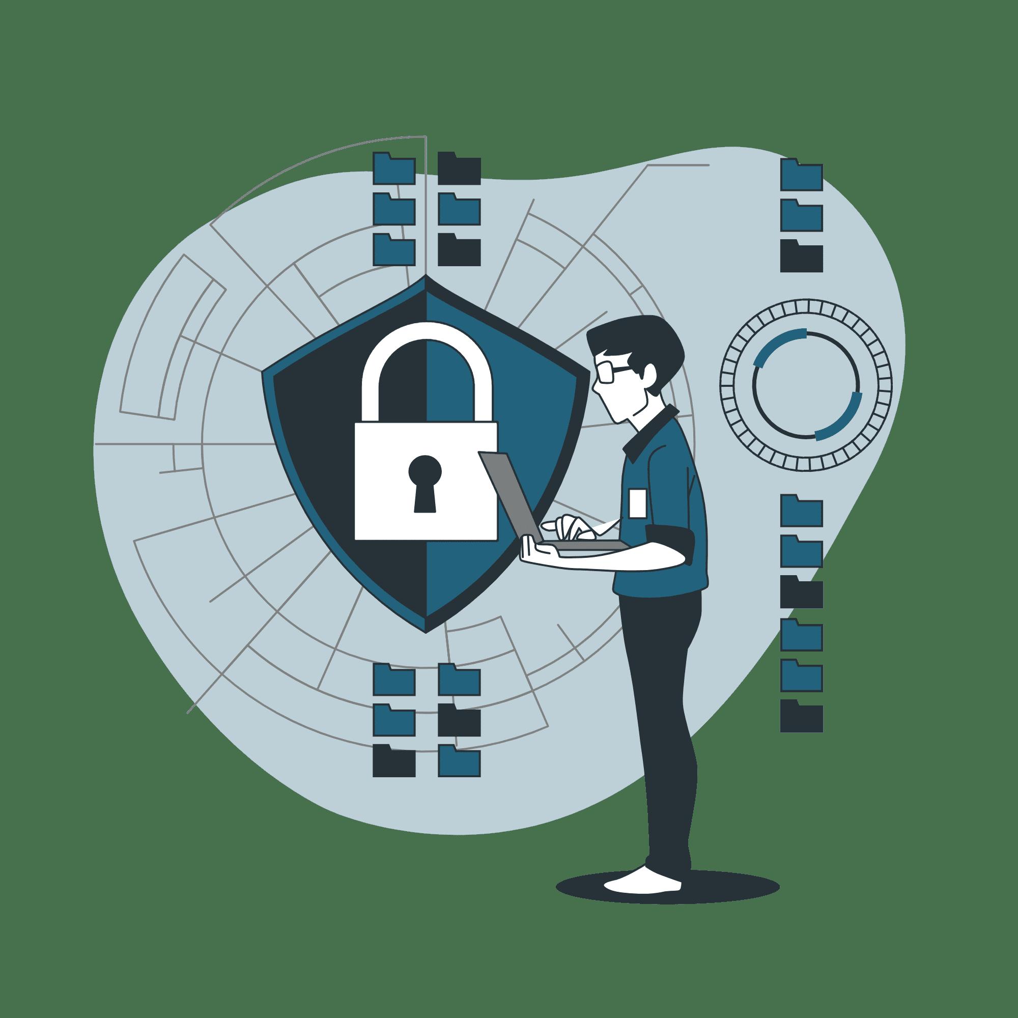 Secured Website Vector Illustration