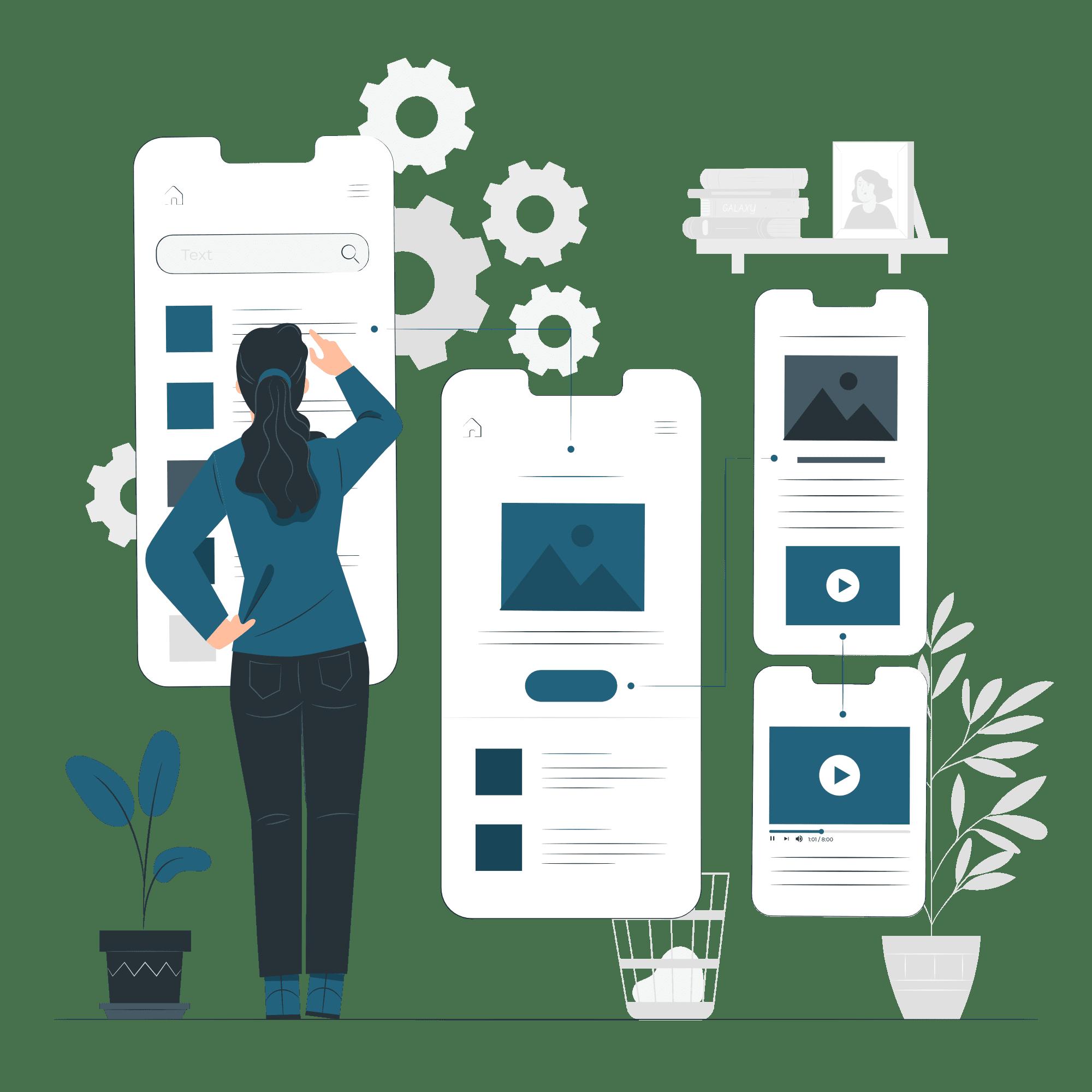 User friendly website vector illustration